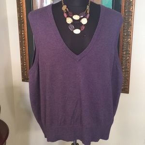 ⭐️EDDIE BAUER DEEP V SLEEVELESS SWEATER 💯AUTH
